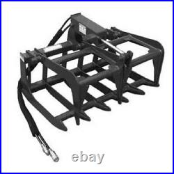 NEW 48,4' SKID STEER LOADER / COMPACT TRACTOR light weight GRAPPLE ROOT RAKE