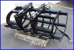 NEW 60 LD ROOT GRAPPLE ATTACHMENT Skid-Steer Loader Bucket Rake Tine Holland 5