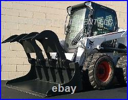 NEW 66 HD GRAPPLE BUCKET ATTACHMENT for fits Bobcat Skid Steer Track Loader Cat