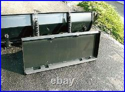 NEW 66 HYDRAULIC SNOW PLOW BLADE SKID STEER LOADER COMPACT TRACTOR mahindra 5'6