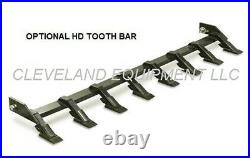 NEW 66 LOW PROFILE TOOTH BUCKET Skid Steer Loader Attachment Industrial Teeth