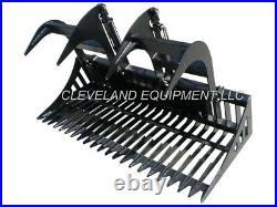 NEW 72 SD SKELETON ROCK GRAPPLE ATTACHMENT Skid-Steer Loader Bucket Tine Bobcat