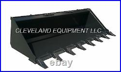 NEW 78 LOW PROFILE TOOTH BUCKET Skid Steer Loader Tractor Attachment Teeth Dirt