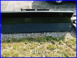 NEW 78 MANUAL SNOW PLOW BLADE SKID STEER LOADER COMPACT TRACTOR 6'6 mahindra 6