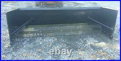 NEW 7' SKID STEER/TRACTOR LOADER SNOW BOX PUSHER PLOW BLADE bobcat, holland 84