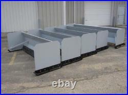 NEW 8' SKID STEER/TRACTOR LOADER SNOW BOX PUSHER PLOW BLADE case, john deere 96