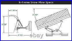 NEW 96 8' SNOW PLOW SKID STEER LOADER, Quick Attach-Tractor, bobcat, SNOWPLOW cat
