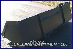 NEW 96 BULK MATERIAL BUCKET Snow Mulch Litter Skid-Steer Track Loader Bobcat 8