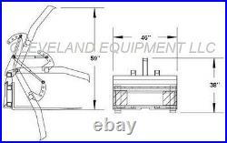 NEW ADJUSTABLE PALLET FORK GRAPPLE ATTACHMENT Skid Steer Loader Log Tree Bucket