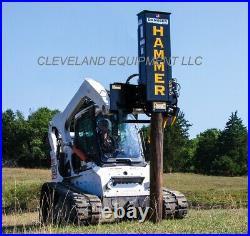 NEW DANUSER SM40 HAMMER FENCE POST DRIVER ATTACHMENT Skid-Steer Loader Tractor