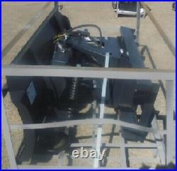 NEW JCT 72 SNOW PLOWithDOZER BLADE SKID STEER LOADER Tractor Bobcat 6 way-3 bolts