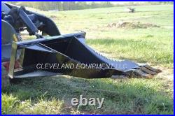 NEW MINI XL STUMP BUCKET ATTACHMENT Ditch Witch Boxer Skid Steer Track Loader