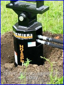 NEW PREMIER H019 HYDRAULIC AUGER DRIVE ATTACHMENT Skid-Steer Track Loader Bobcat