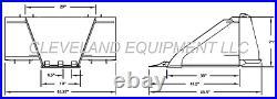 NEW STUMP BUCKET ATTACHMENT Skid-Steer Track Loader Tree Spade Bobcat Takeuchi