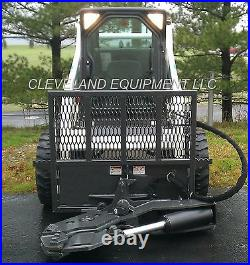 NEW TREE SHEAR ATTACHMENT Skid Steer Loader Tractor Wood Log Axe Rotating Bobcat