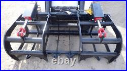 NEW USA 60,5' SKID STEER LOADER, COMPACT TRACTOR light weight GRAPPLE ROOT RAKE