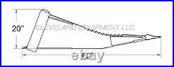 NEW XL STUMP BUCKET ATTACHMENT TREE SPADE ROOT RIPPER Skid Steer Loader Bobcat