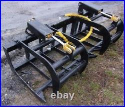 New USA 72 Root Grapple Skid Steer Loader Tractor Grapple Root Rake Bucket 6