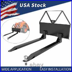 Pallet Forks For Loaders Skid Steer Tractor Hitch Attachment Quick Attach 46