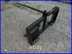 Quick Tach Tractor Loader Skid Steer Hay Bale Spear Fork Attachment Ship $179