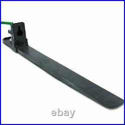Titan Attachments Clamp on Pallet Fork 47 Inch 6000 lb Loader Bucket Skid Steer