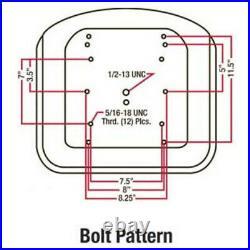 Tractor Seat Metal Base fits Allis Chalmers Fits Bobcat Skid Steer Loader TM33