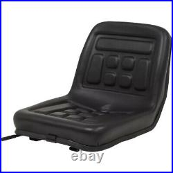 Tractor Seat Skid Steer Loader Lawn Garden Mower Seat With Drain Hole Waterproof